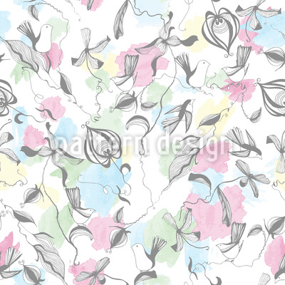 Bird Fantasy Seamless Vector Pattern Design
