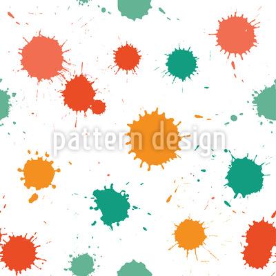 Farbkleckse Im Atelier Vektor Muster