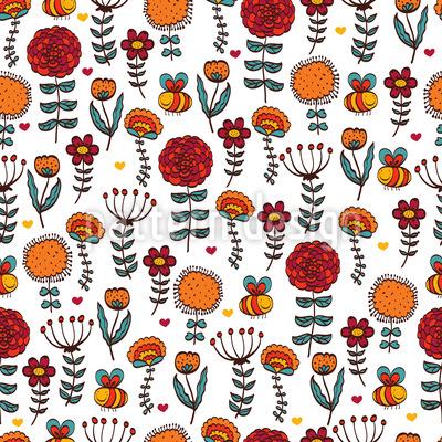 Julias Cute Garden Repeating Pattern