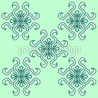 Floral Spring Greetings Pattern Design