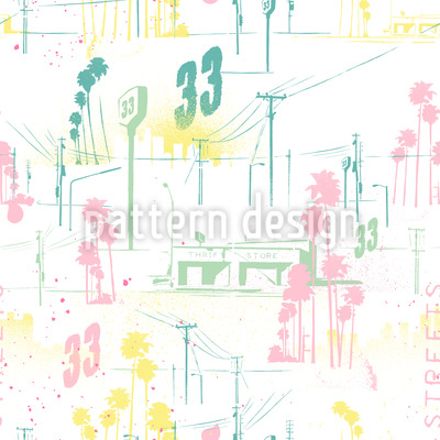 California Seamless Vector Pattern