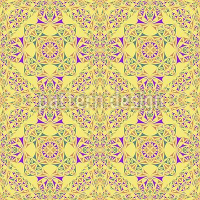 Kaleidoscope In Spring Vector Ornament
