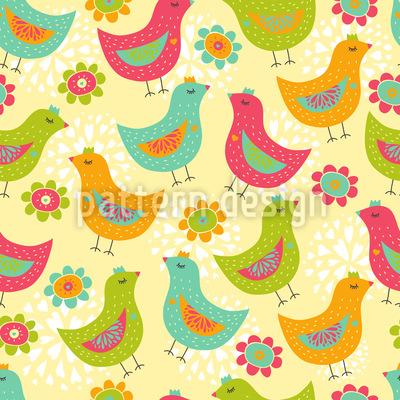 Die Glücklichen Hühner Muster Design