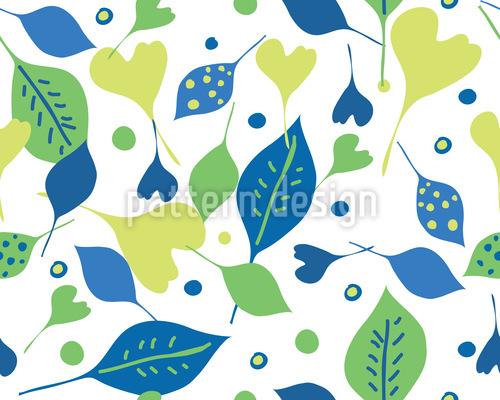 Cheerful Leaf Mix Pattern Design