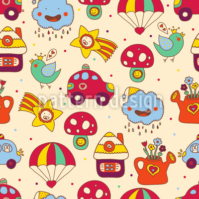 Toy Parade Seamless Vector Pattern Design