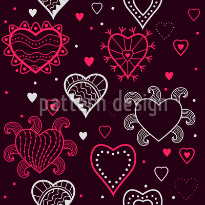 I See Hearts Seamless Pattern