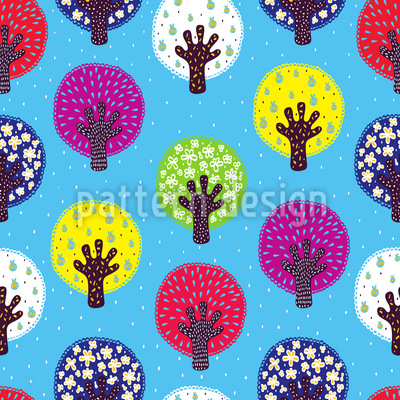 In The Patchwork Forest Seamless Vector Pattern
