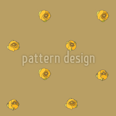 Persian Buttercup Dots Repeat Pattern