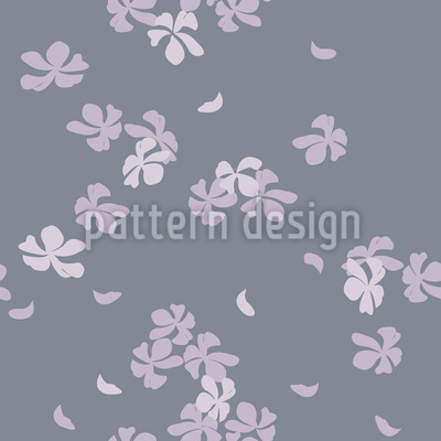 Cherry Blossoms In The Wind Seamless Vector Pattern Design