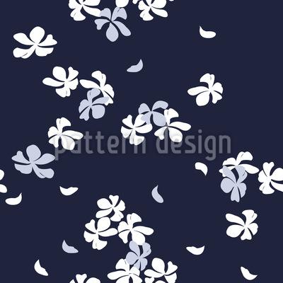Kirschblüten Bei Nacht Nahtloses Vektormuster