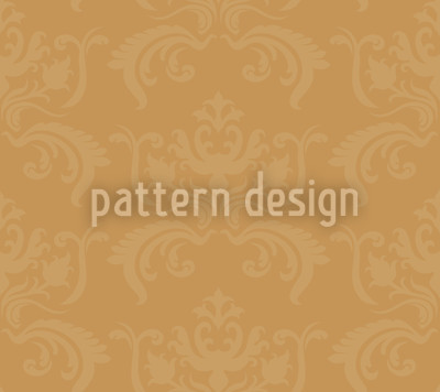 Portos Baroque Gold Seamless Vector Pattern Design