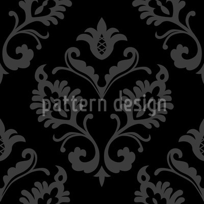 Aramis Black Seamless Vector Pattern Design