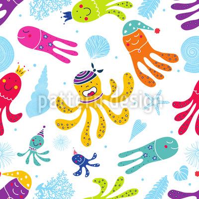 Karneval Der Oktopusse Rapportmuster