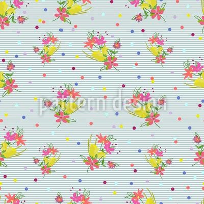 Ein Blumenstrauss Für Dich Muster Design