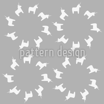 Little Unicorn Circles Vector Ornament