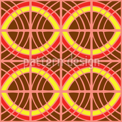 Ethno Behind Bars Vector Pattern