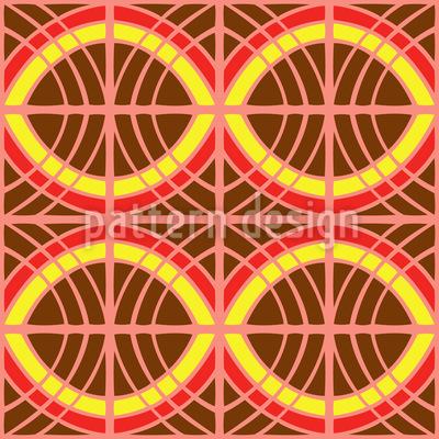 Ethno Hinter Gittern Vektor Muster