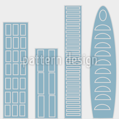 The Skyscrapers Of The Blue City Seamless Pattern
