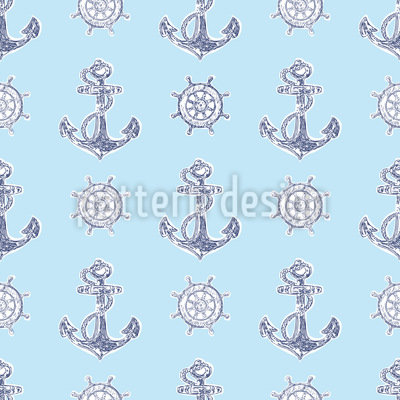 Anchors And Steering Wheels Pattern Design
