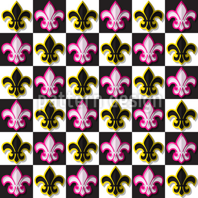 Fleurs De Lis Schachmatt Vektor Ornament