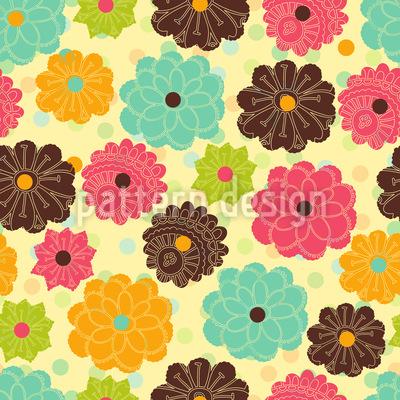Scattered Floral Patchwork Pattern Design