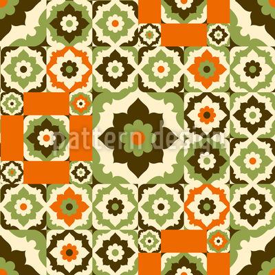 Blumen Aus Dem Retro Orient Designmuster