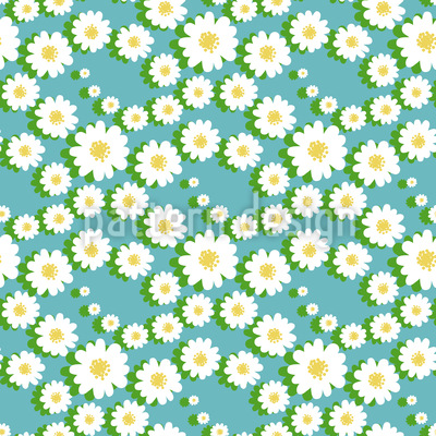Daisy Garlands Repeating Pattern