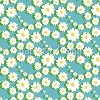 Gänseblümchen Girlanden Rapportiertes Design