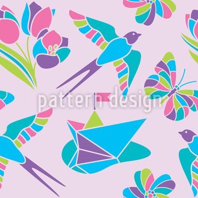Romantisches Mosaik Designmuster