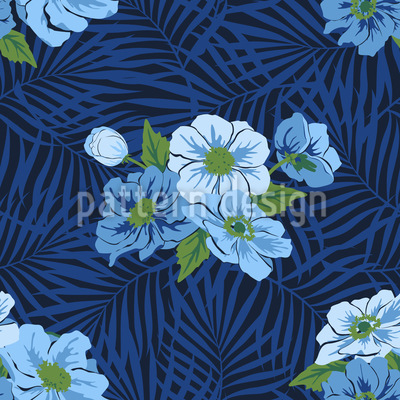 Fiji Flowers Vector Ornament