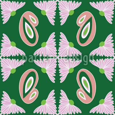 Paisley And Bud Repeating Pattern