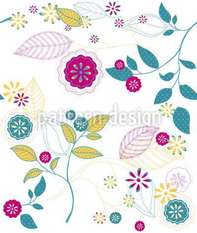 Blumencocktail Vektor Design