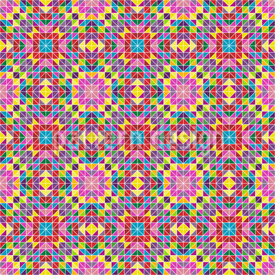 Jolly Mosaic Seamless Vector Pattern Design