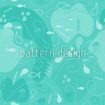Miros Underwater Patchwork Seamless Vector Pattern Design