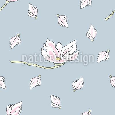 Magnolien Blüte Nahtloses Vektormuster