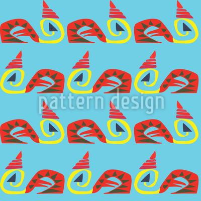 Rattlesnake Vector Pattern