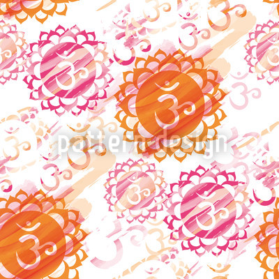 Om Colorful Seamless Vector Pattern Design