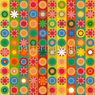 Flower Power Extreme Seamless Vector Pattern