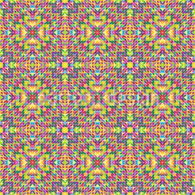 Florales Kaleidoskop Nahtloses Vektormuster