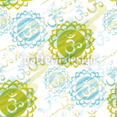 Om Green Pattern Design