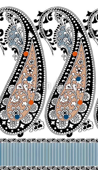 Belezas Paisley Design de padrão vetorial sem costura