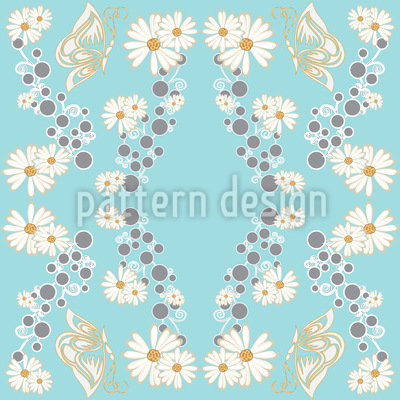 Butterfly And Daisy Pattern Design