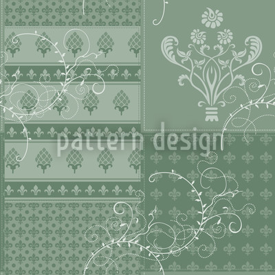 Symphony Floral Green Pattern Design