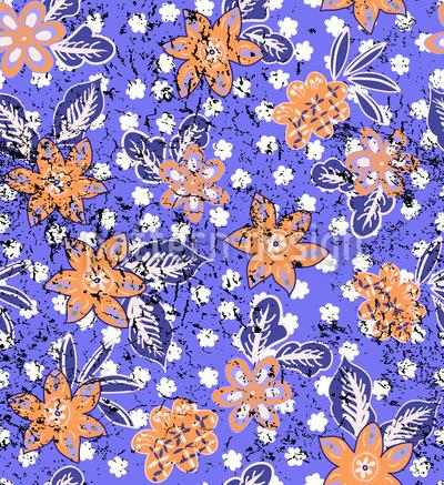 Tropischer Blumen Druck  Musterdesign