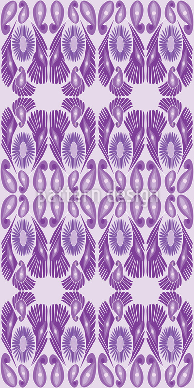 Paisley And Feather Design Pattern