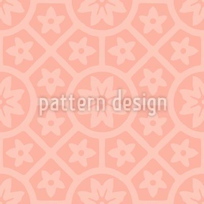 Terracotta Rosetten Nahtloses Vektor Muster