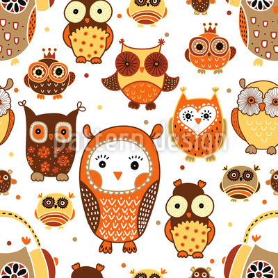 Autumn Owls Vector Design