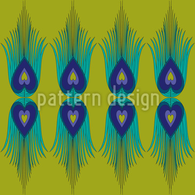 The Heart Of A Peacock Seamless Vector Pattern Design