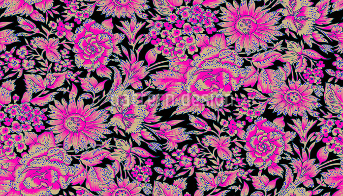 The Garden Of Persia Seamless Vector Pattern Design