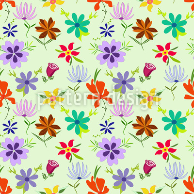 Kashmiras Blumen Vektor Ornament